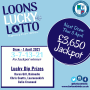 Loons Lucky Lotto - Thursday 1 April 2021