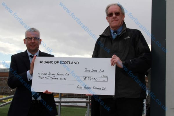 Supporters Club Cheque
