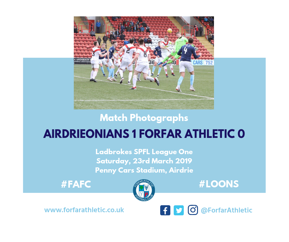 2019 03 23 Airdrieonians 1 Forfar Athletic 0